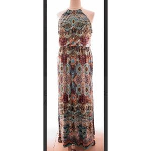 Bisou bisou colorful maxi dress